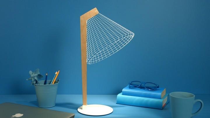 Удивительная плоская лампа дающая иллюзию объема (1)