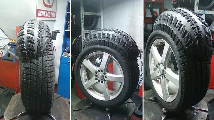 Дефект шины, вздутие шины