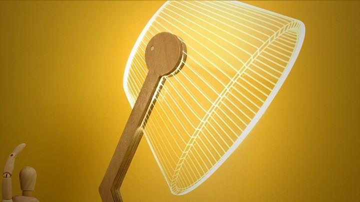 Удивительная плоская лампа дающая иллюзию объема (12)