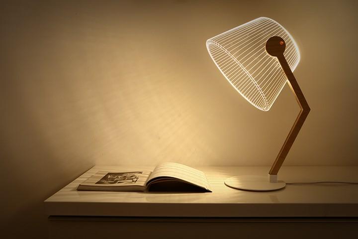 Удивительная плоская лампа дающая иллюзию объема (3)