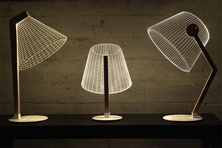 Удивительная плоская лампа дающая иллюзию объема (6)