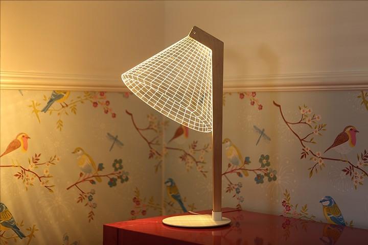 Удивительная плоская лампа дающая иллюзию объема (8)