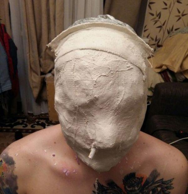 Делаем точную копию своей головы из гипса (1)
