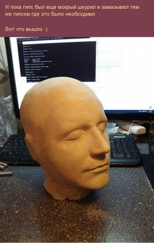 Делаем точную копию своей головы из гипса (14)
