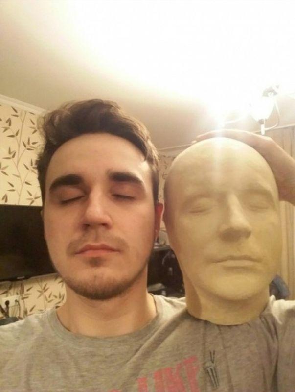 Делаем точную копию своей головы из гипса (15)