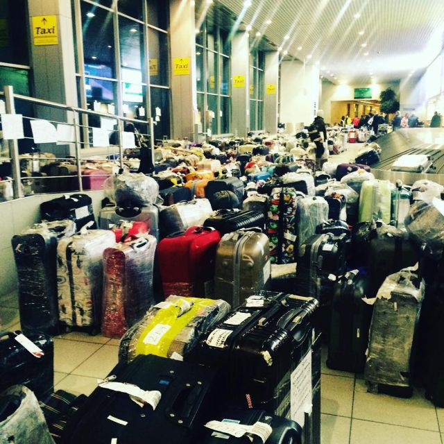 Чемоданный коллапс в российских аэропортах (4)