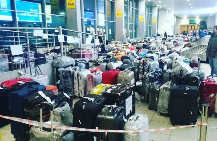 Чемоданный коллапс в российских аэропортах (9)