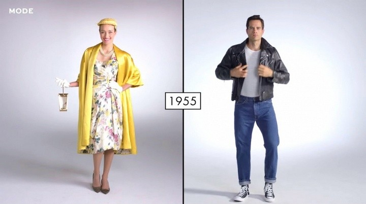Как менялась мода в течении последних 100 лет (5)