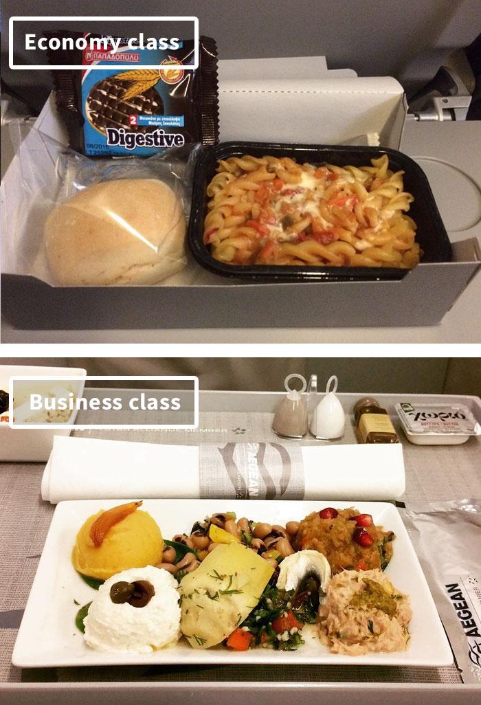 Чем кормят в самолётах крупных авиакомпаний (11)