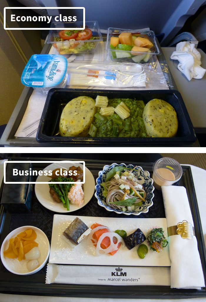 Чем кормят в самолётах крупных авиакомпаний (13)