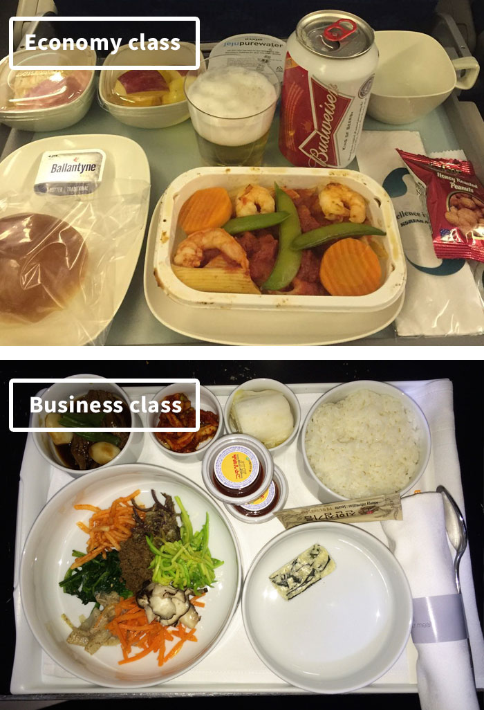 Чем кормят в самолётах крупных авиакомпаний (14)