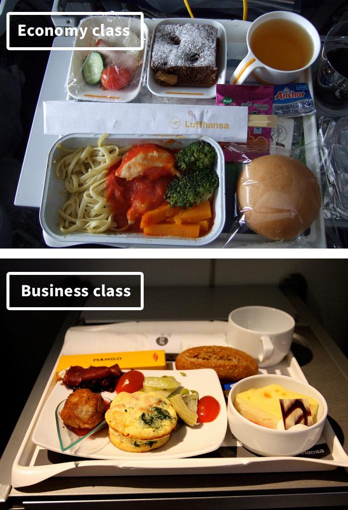Чем кормят в самолётах крупных авиакомпаний (15)