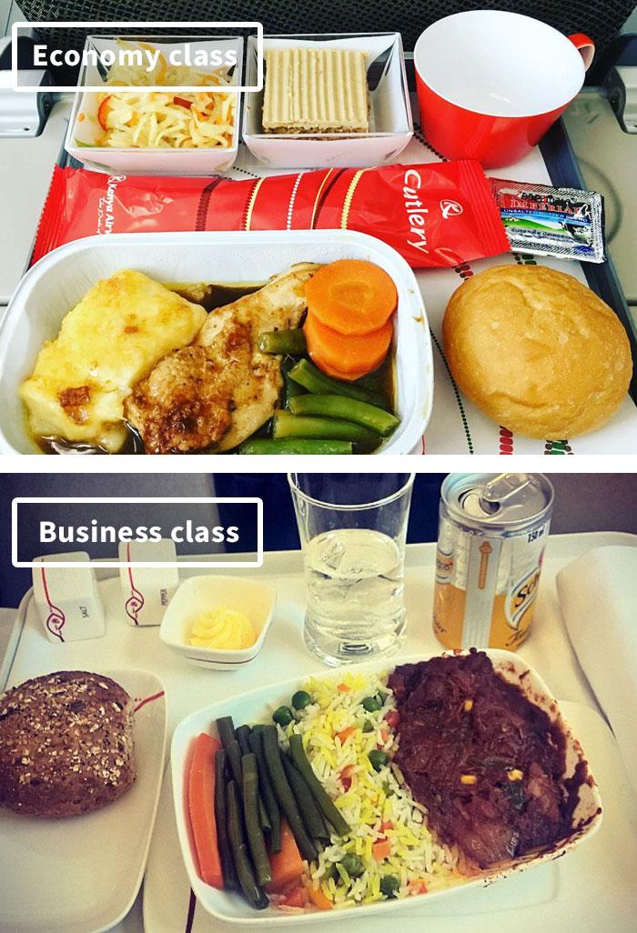 Чем кормят в самолётах крупных авиакомпаний (16)