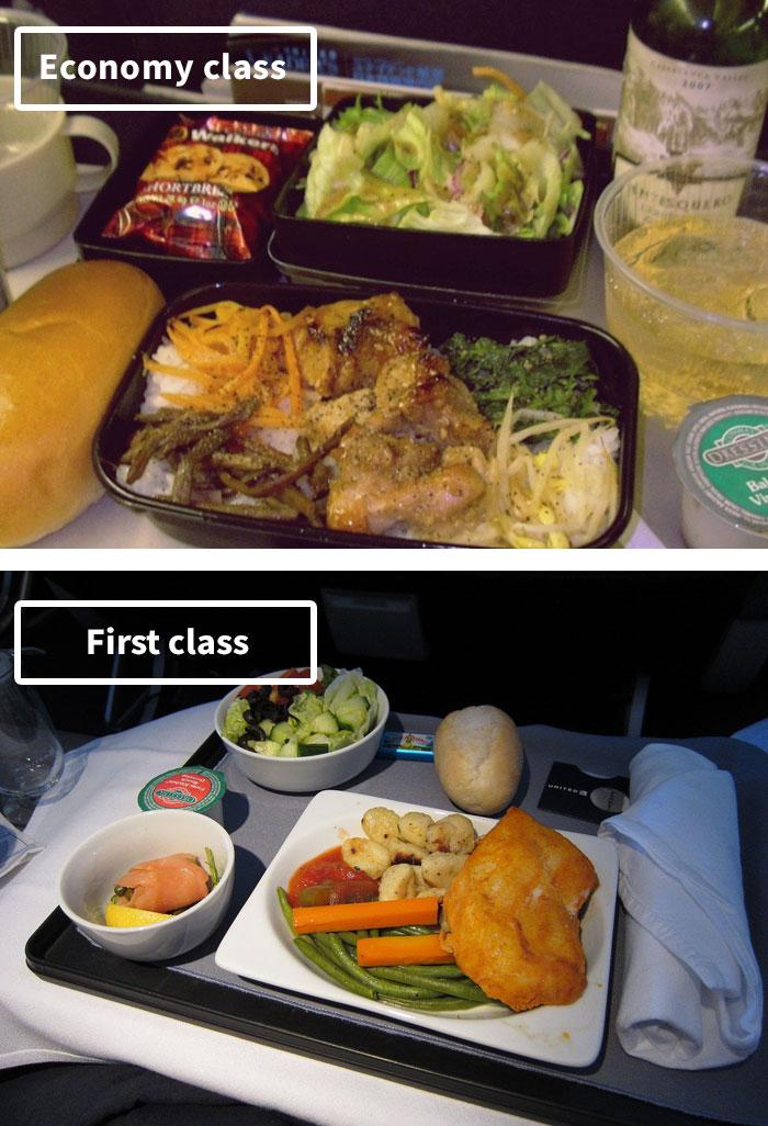 Чем кормят в самолётах крупных авиакомпаний (17)