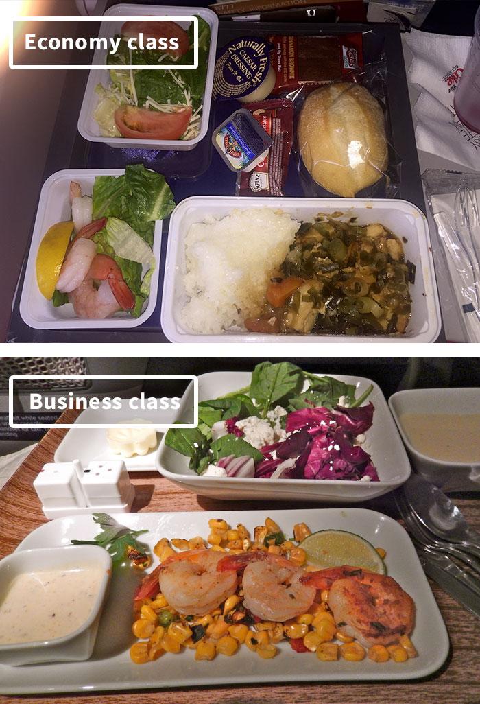 Чем кормят в самолётах крупных авиакомпаний (20)