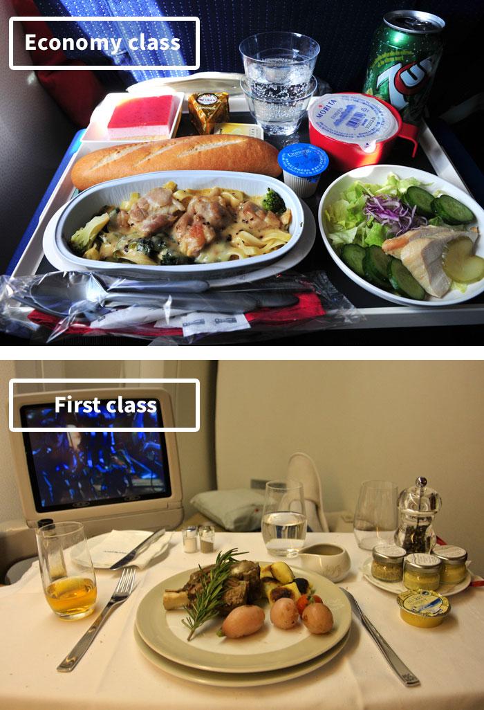 Чем кормят в самолётах крупных авиакомпаний (3)
