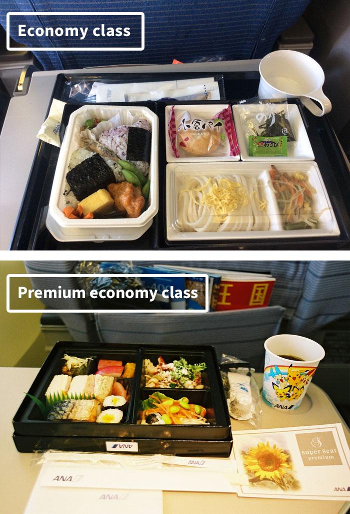 Чем кормят в самолётах крупных авиакомпаний (4)