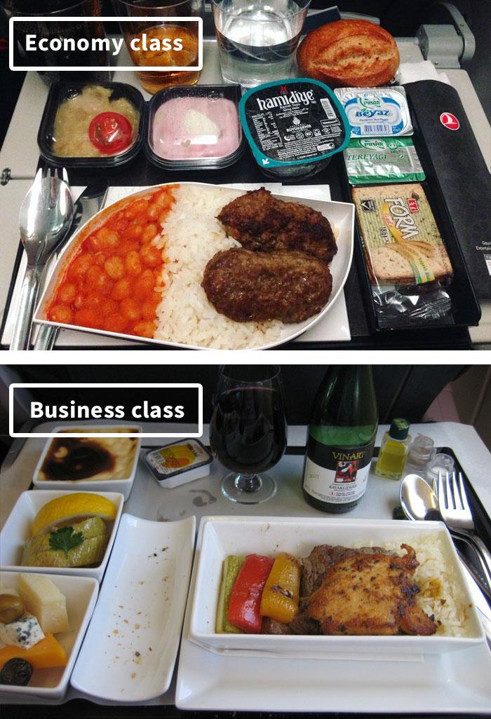 Чем кормят в самолётах крупных авиакомпаний (8)