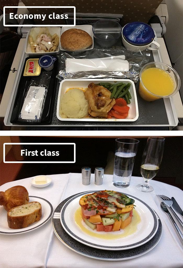 Чем кормят в самолётах крупных авиакомпаний (9)