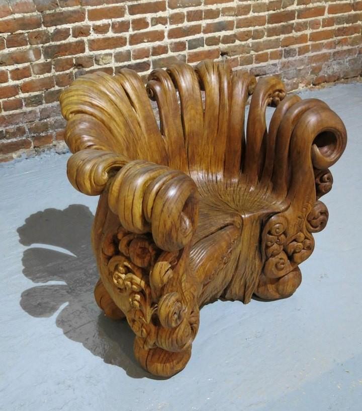 Уникальное кресло из корня дуба (1)
