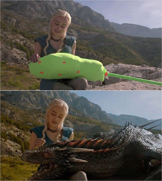 Сцены из фильмов до и после спецэффектов (2)