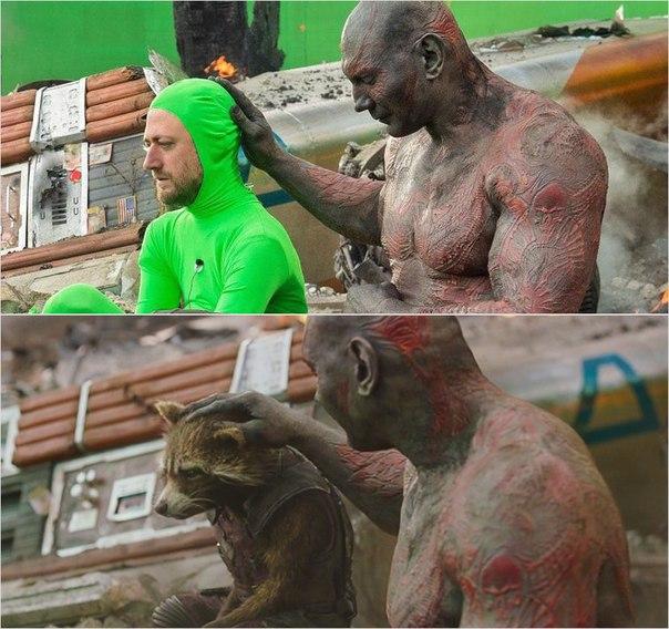 Сцены из фильмов до и после спецэффектов (3)