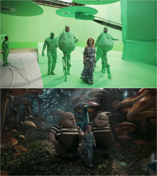 Сцены из фильмов до и после спецэффектов (6)