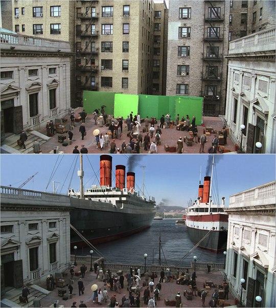 Сцены из фильмов до и после спецэффектов (8)