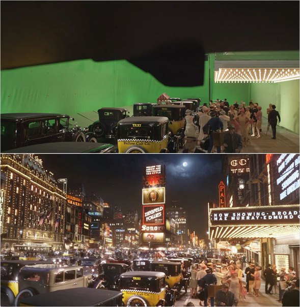 Сцены из фильмов до и после спецэффектов (10)