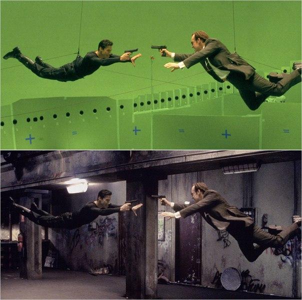 Сцены из фильмов до и после спецэффектов (11)