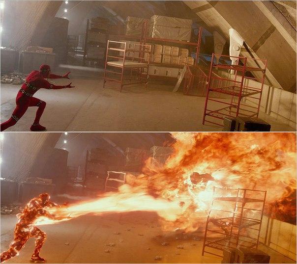 Сцены из фильмов до и после спецэффектов (12)