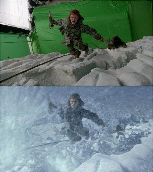 Сцены из фильмов до и после спецэффектов (14)