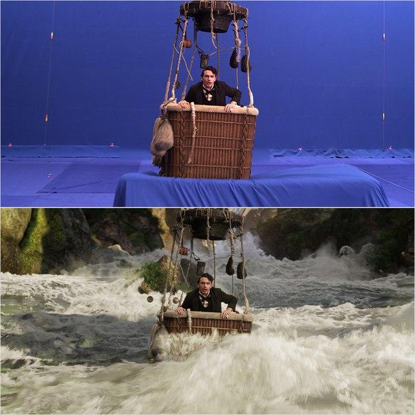 Сцены из фильмов до и после спецэффектов (15)