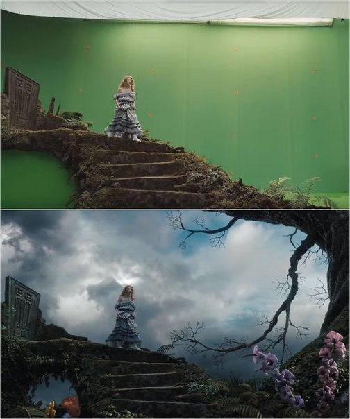 Сцены из фильмов до и после спецэффектов (16)