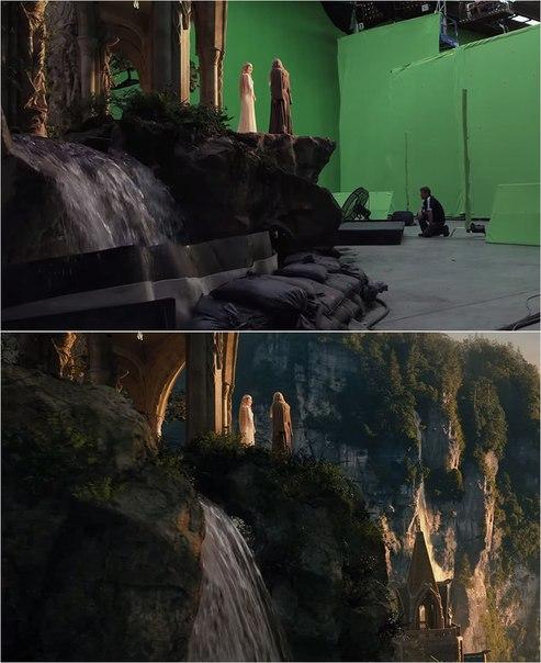Сцены из фильмов до и после спецэффектов (17)