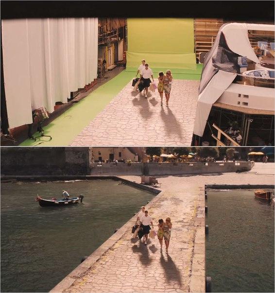 Сцены из фильмов до и после спецэффектов (19)