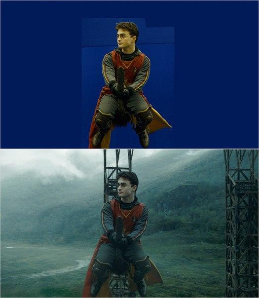 Сцены из фильмов до и после спецэффектов (20)