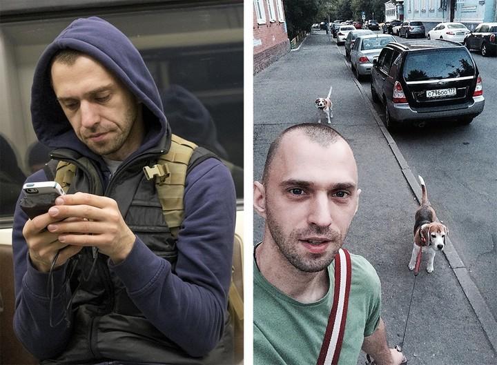 Питерский фотограф сравнил пассажиров метро с их профилями «ВКонтакте» (2)