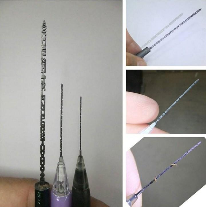 Алфавит на стержне карандаша (3)