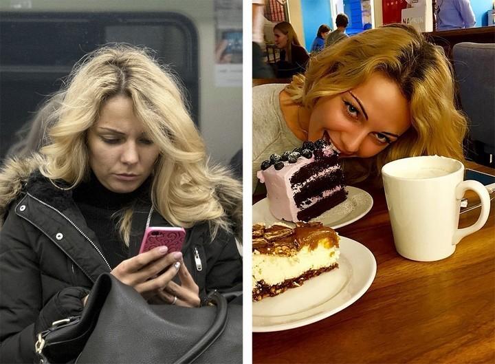 Питерский фотограф сравнил пассажиров метро с их профилями «ВКонтакте» (3)