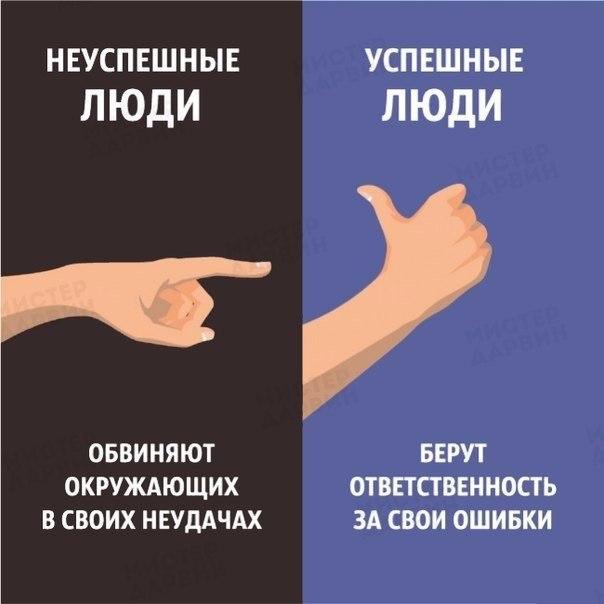 Как себя ведут успешные и не успешные люди (2)