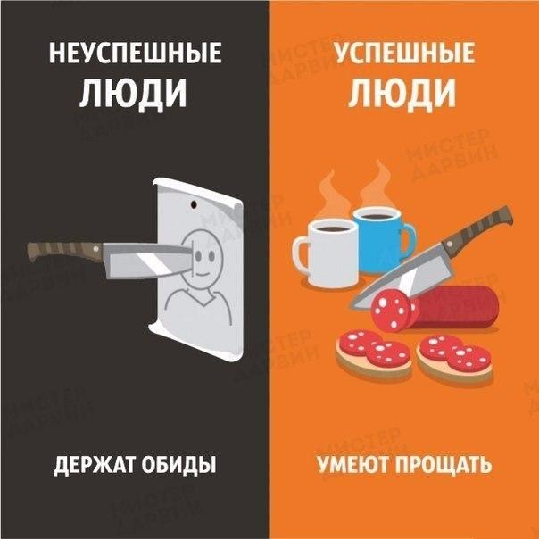 Как себя ведут успешные и не успешные люди (8)