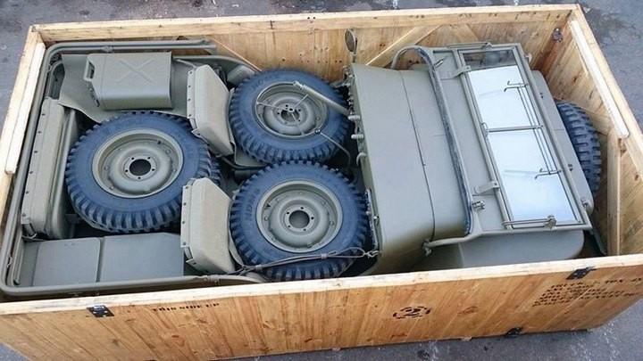 Аккуратно упакованный для транспортировки Willys