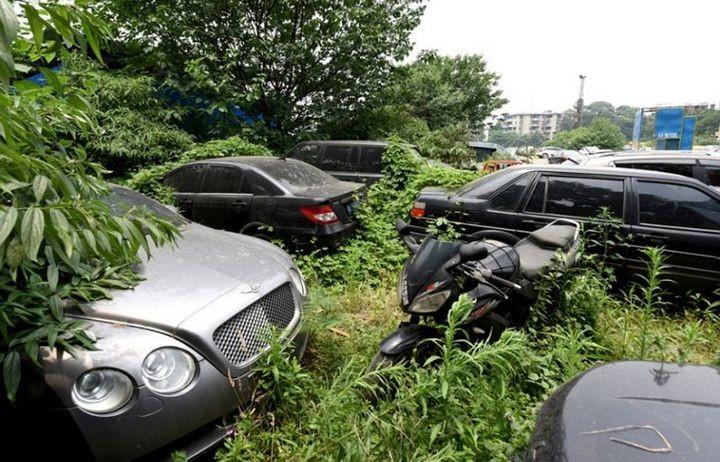 Необычная парковка, где криминалитет и богачи бросают свои тачки (7)