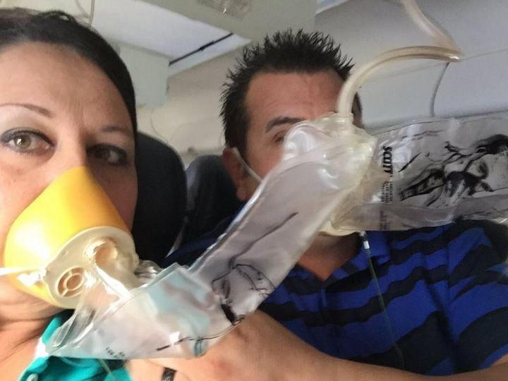 На пассажирском самолете произошло разрушение двигателя прямо во время полета (3)