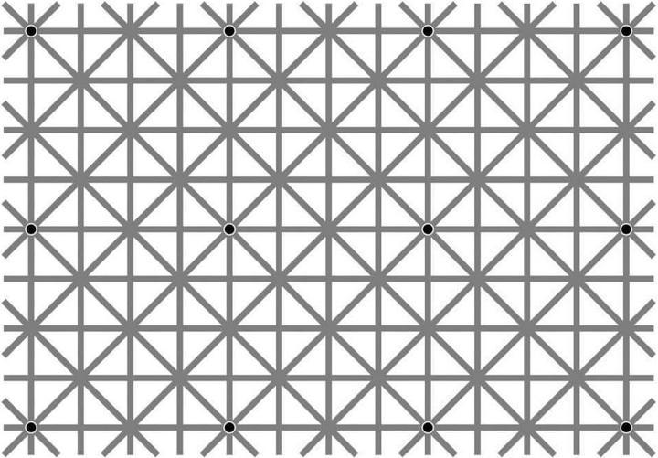 твои глаза не могут увидеть все 12 точек одновременно