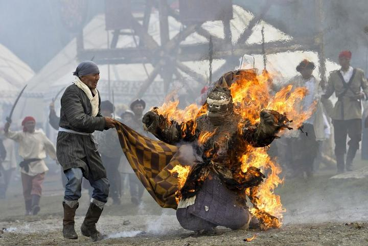 Церемония открытия Всемирных игр кочевников в Кыргызстане (4)