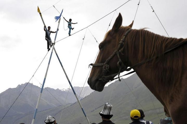 Церемония открытия Всемирных игр кочевников в Кыргызстане (14)