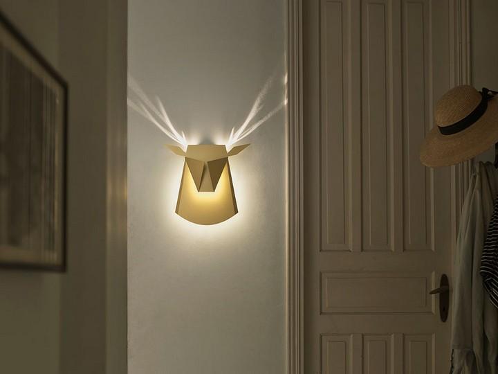 Необычные светильники в виде головы оленя и не только (5)