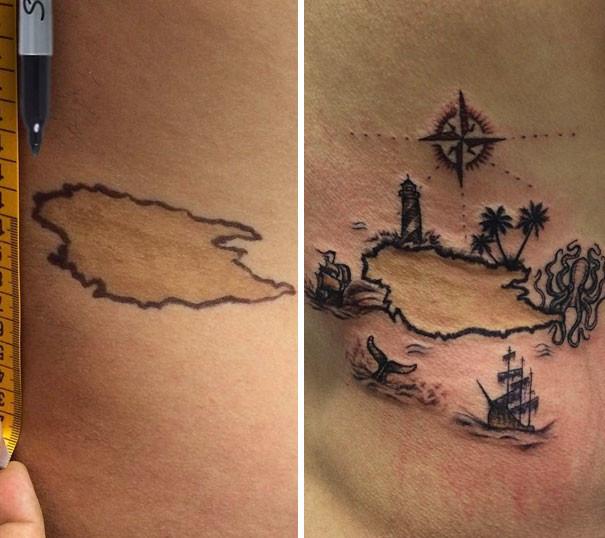 Как эффектно скрыть родимые пятна с помощью татуировок (5)